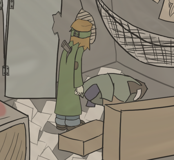 Examine stuff on yer floor