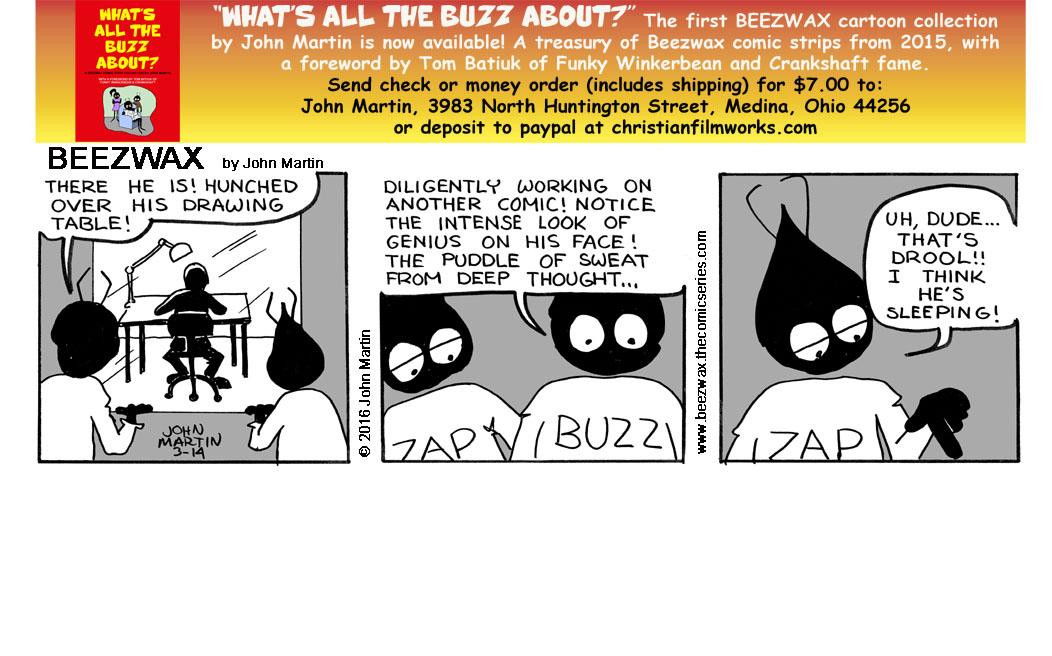 Funky Workerbee: Cartoonist at Work