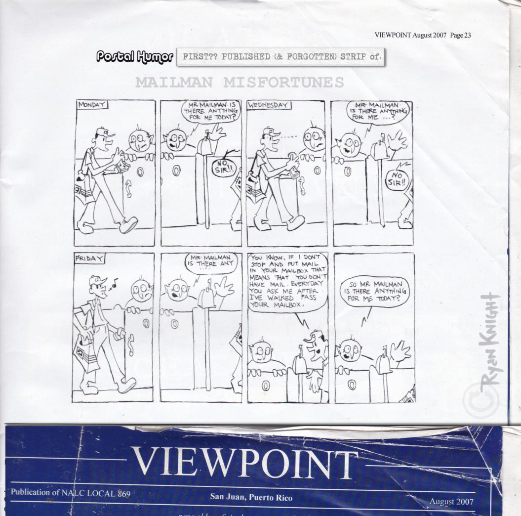 Mailman Misfortunes: August 2007