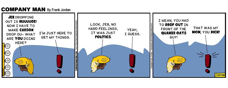 No hard feelings. 2/23/16
