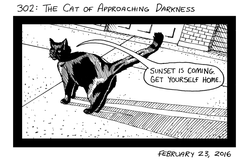 The Cat Of Approaching Darkness