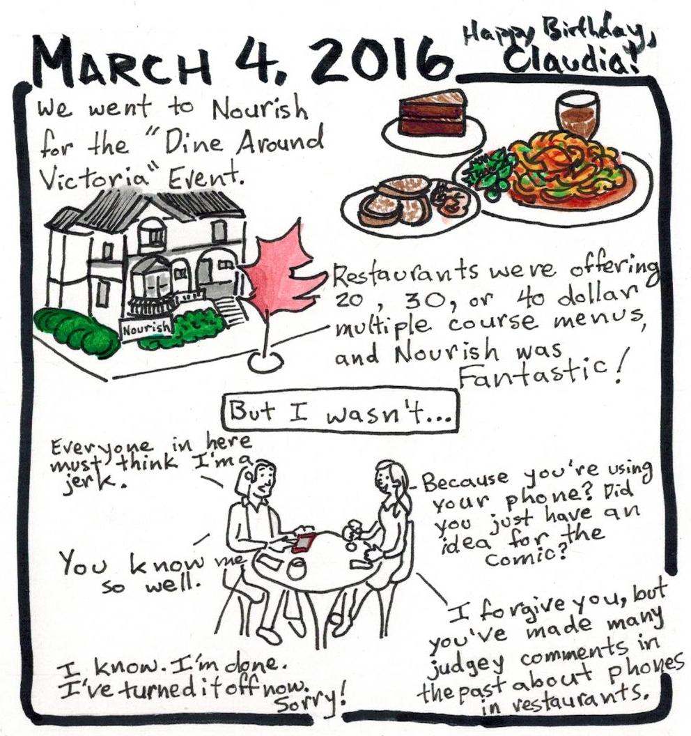 Dine Around Victoria - Happy Claudia Day!
