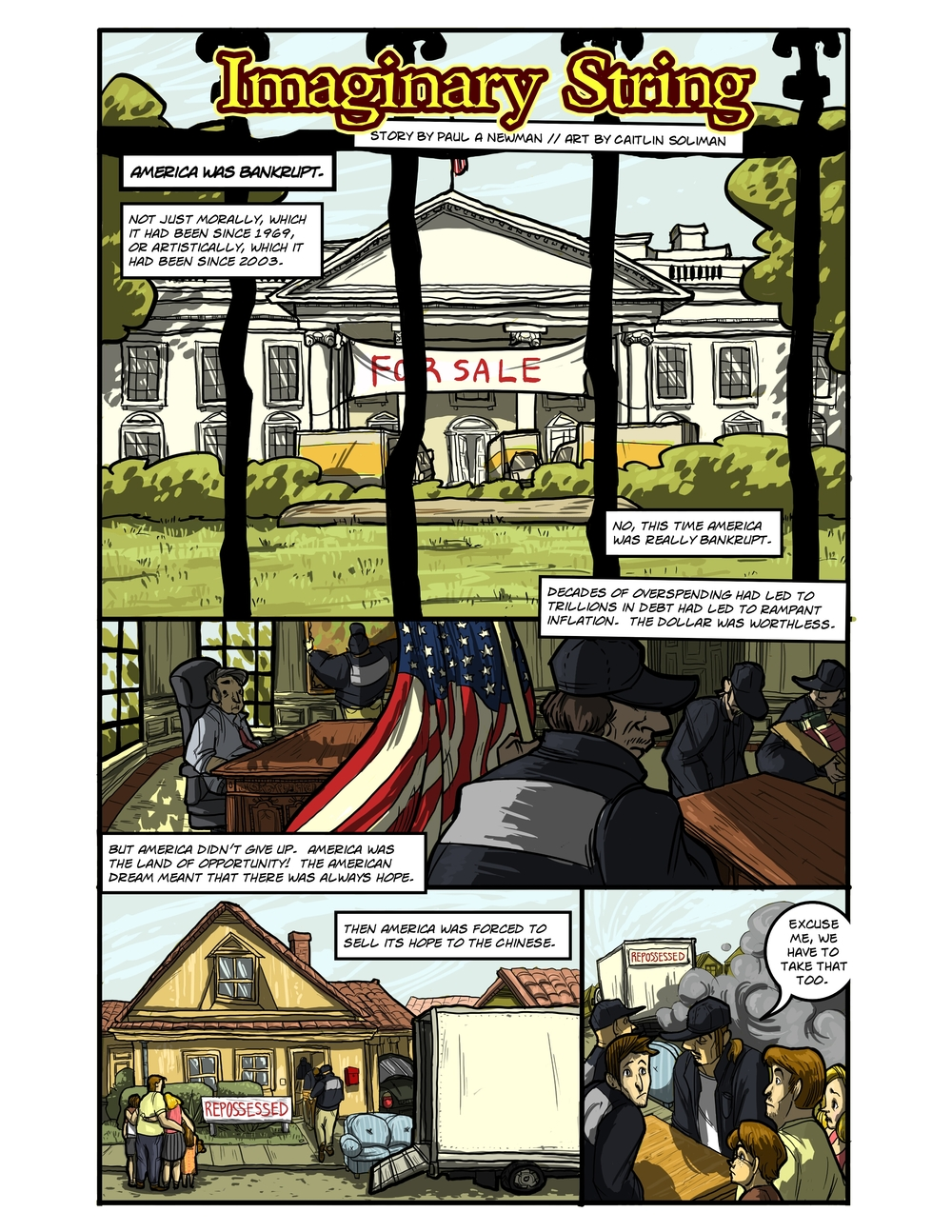 IMAGINARY STRING page 1 - story 20 in The Book of Lies
