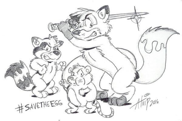 EGG WARRIORS!!!  BUBBLE FOX FAN ART BY DANA ATNIP
