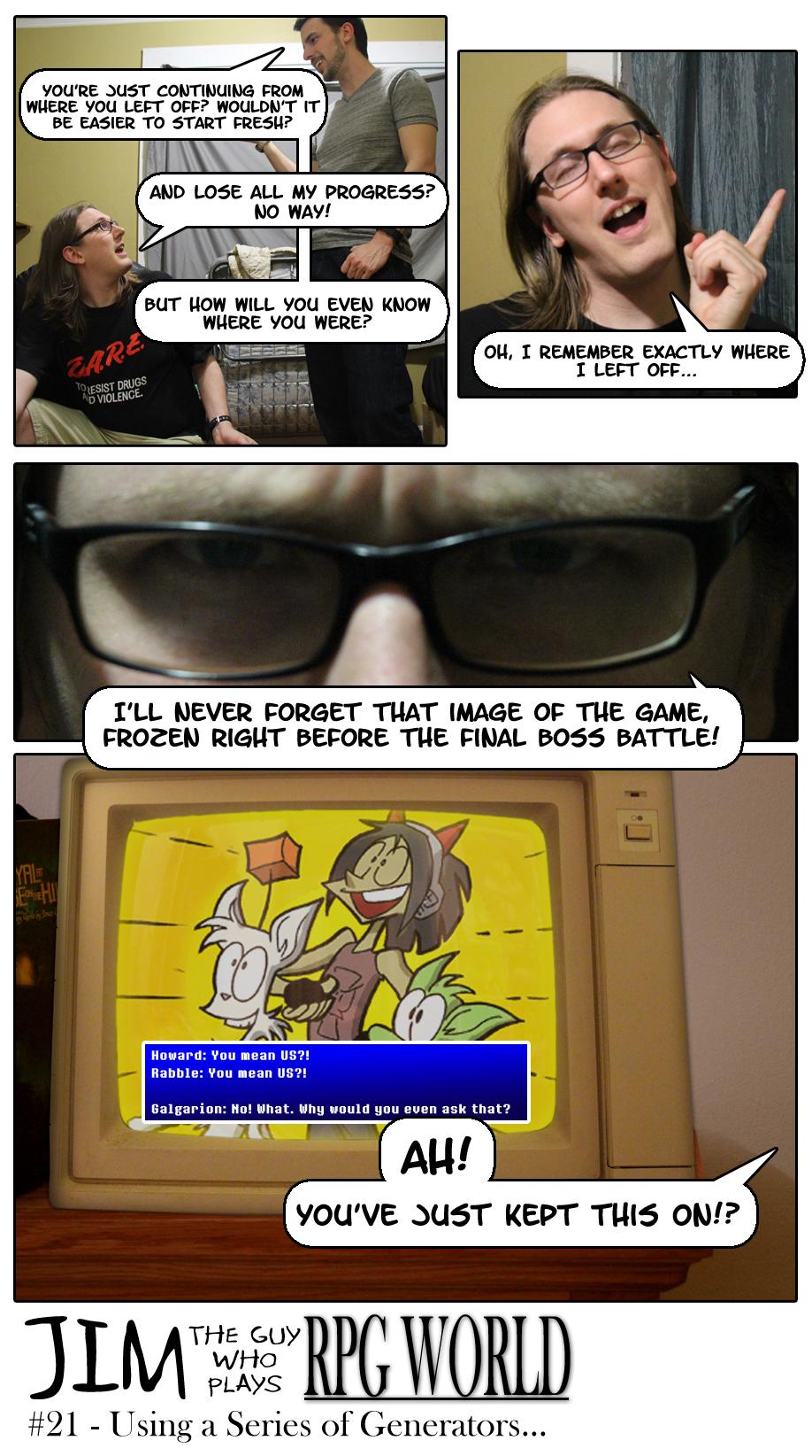 Jim #21 - Using a Series of Generators...
