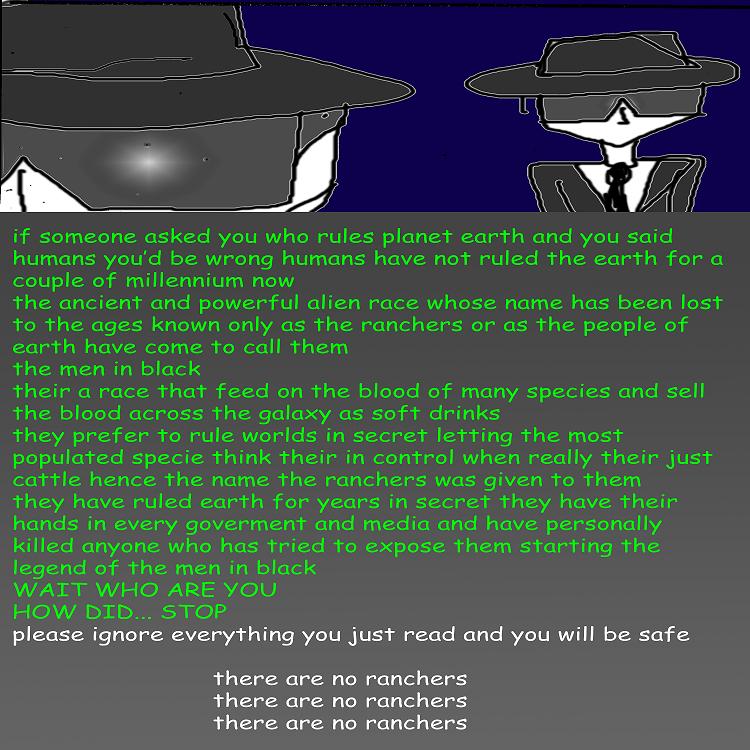 the ranchers (men in black)