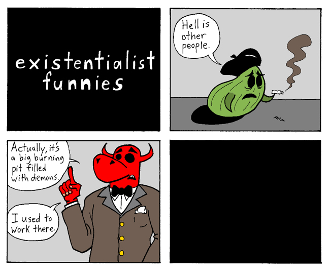 existentialist funnies