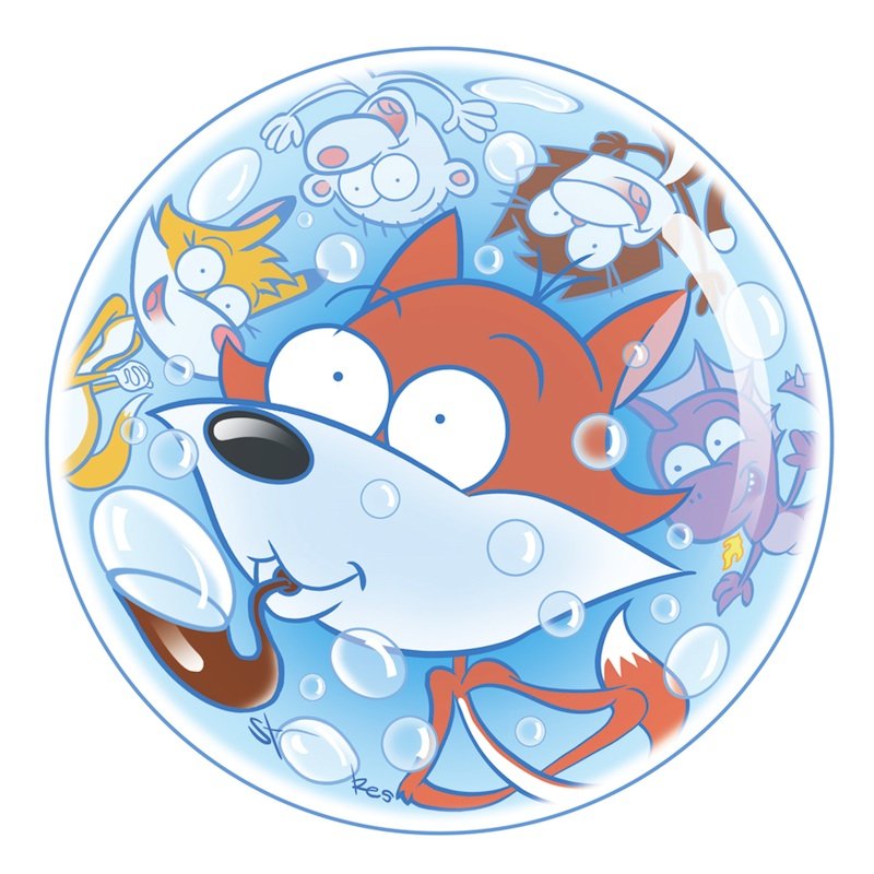 THE BUBBLIN' BROOD!!!  A BUBBLE FOX GUEST COMIC BY MARK STOKES