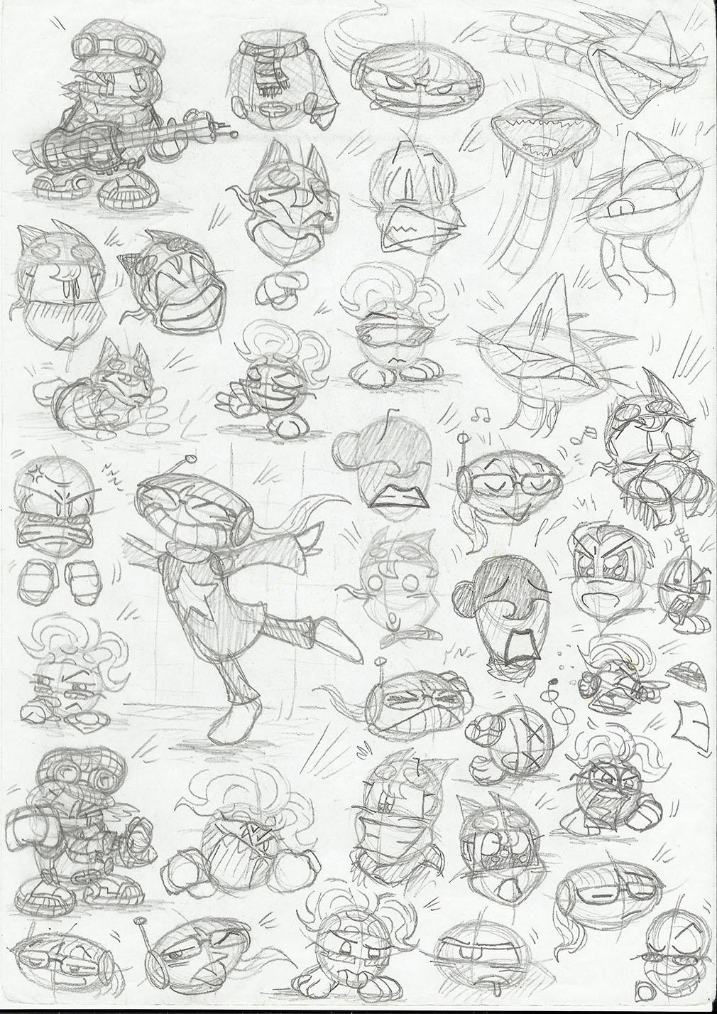 Character sketchbook 1