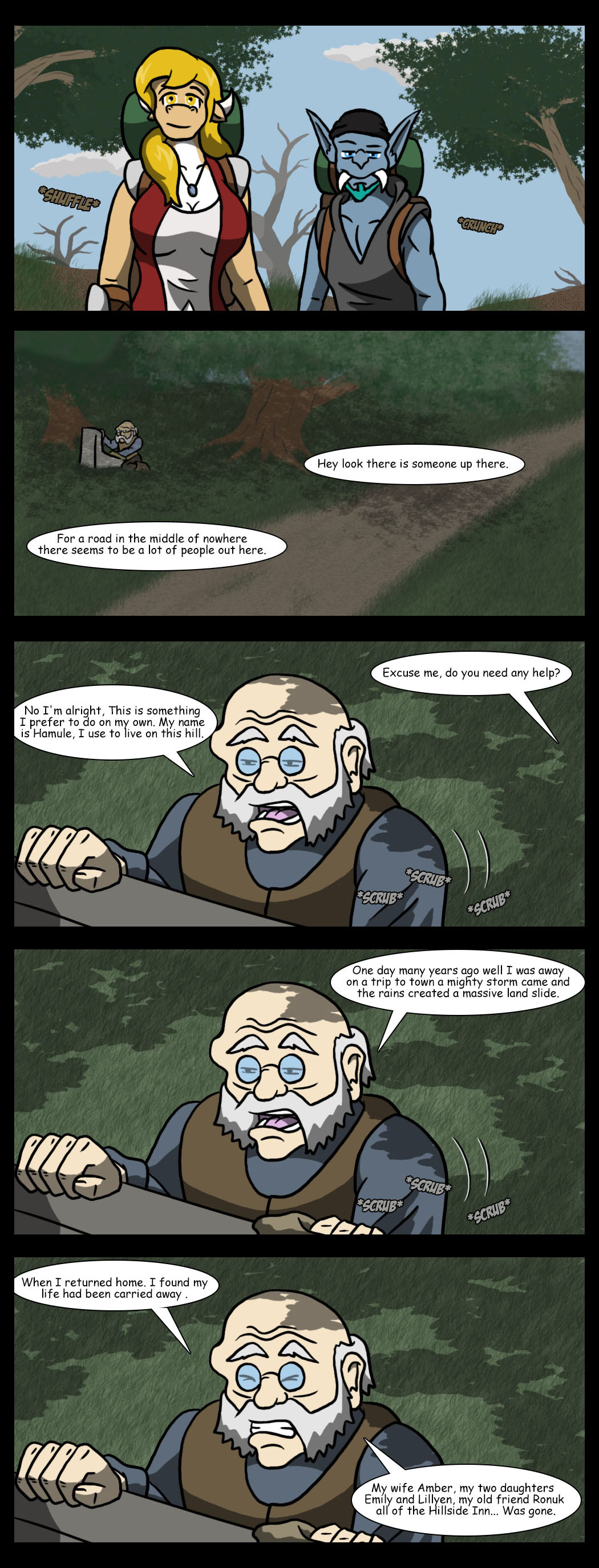 Old dwarf and the stone