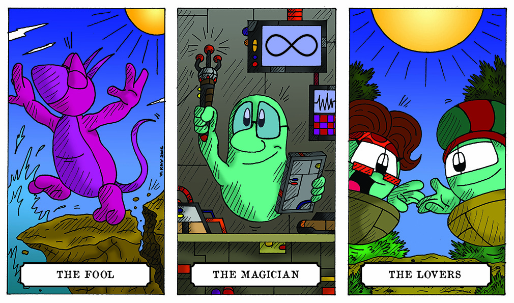 Cosmos Tarot cards?!