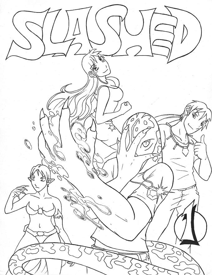 Slashed Volume 1 Cover black and white