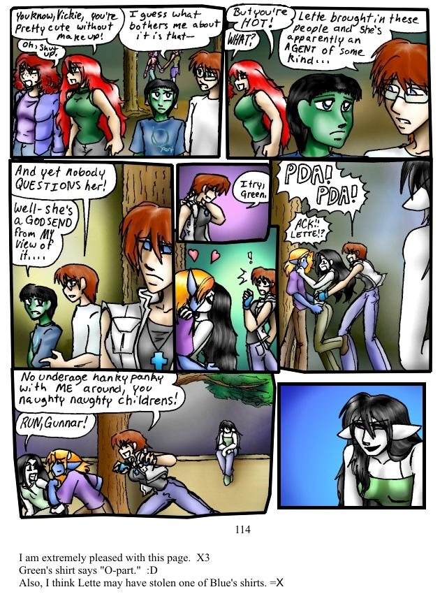 Green shirts and wandering cameras