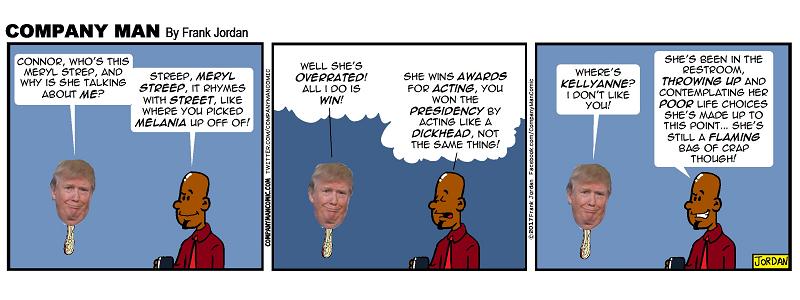 Look, it's #DumbTrumpHeadOnAStick! 1/10/17