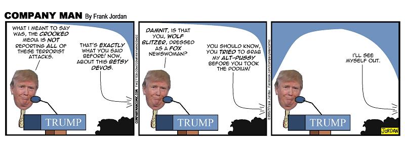#trump hates #CNN! 2/8/17