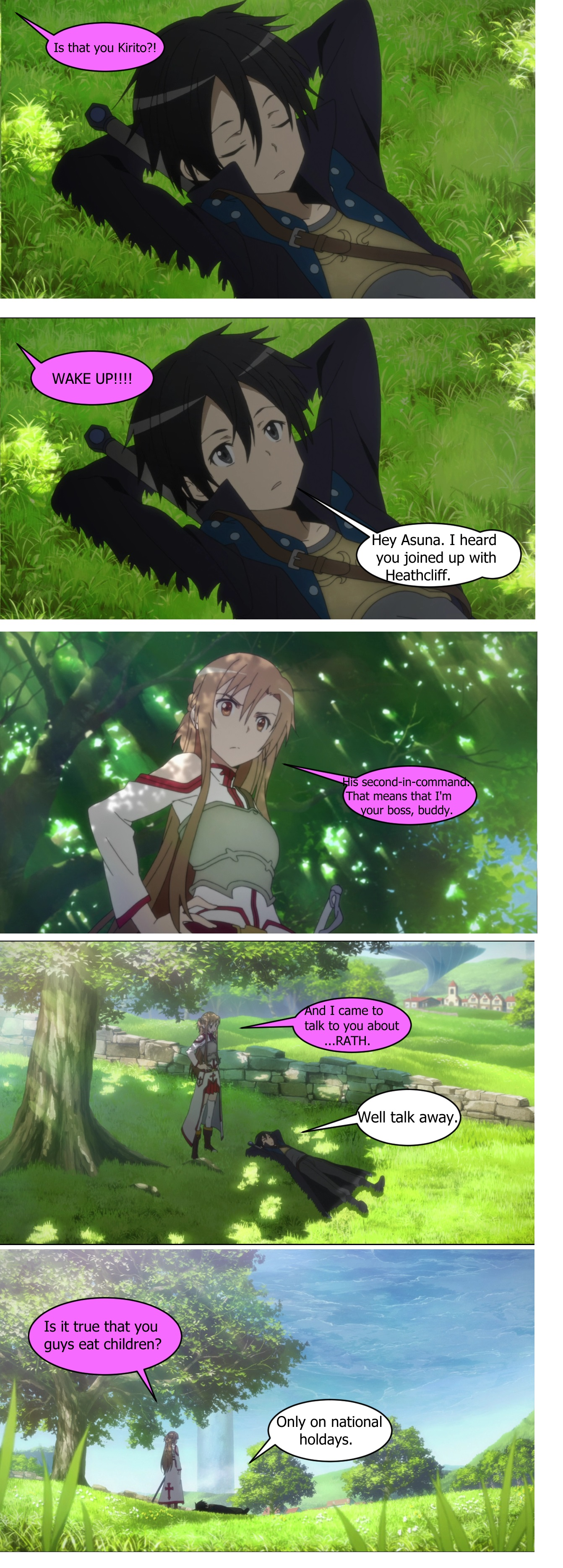 Asuna questions the frequency of child-eating.