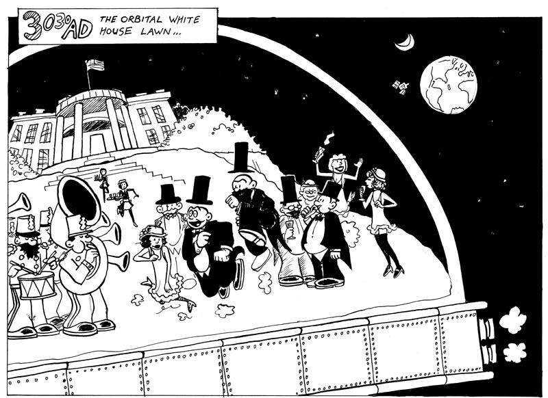 3030 AD... The Orbital White House Lawn