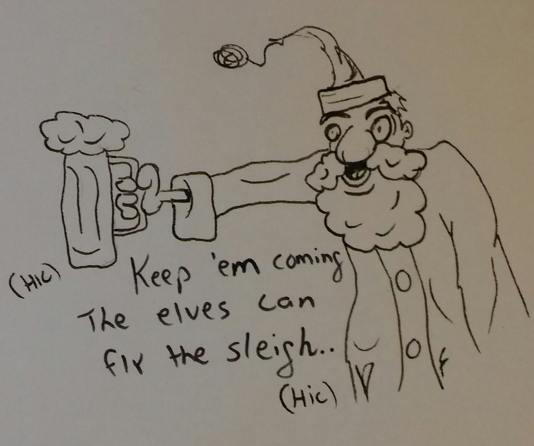 Whos flying the sleigh?