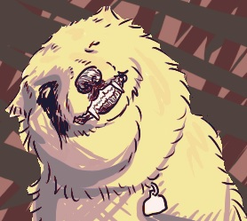 I traced a smiling dog