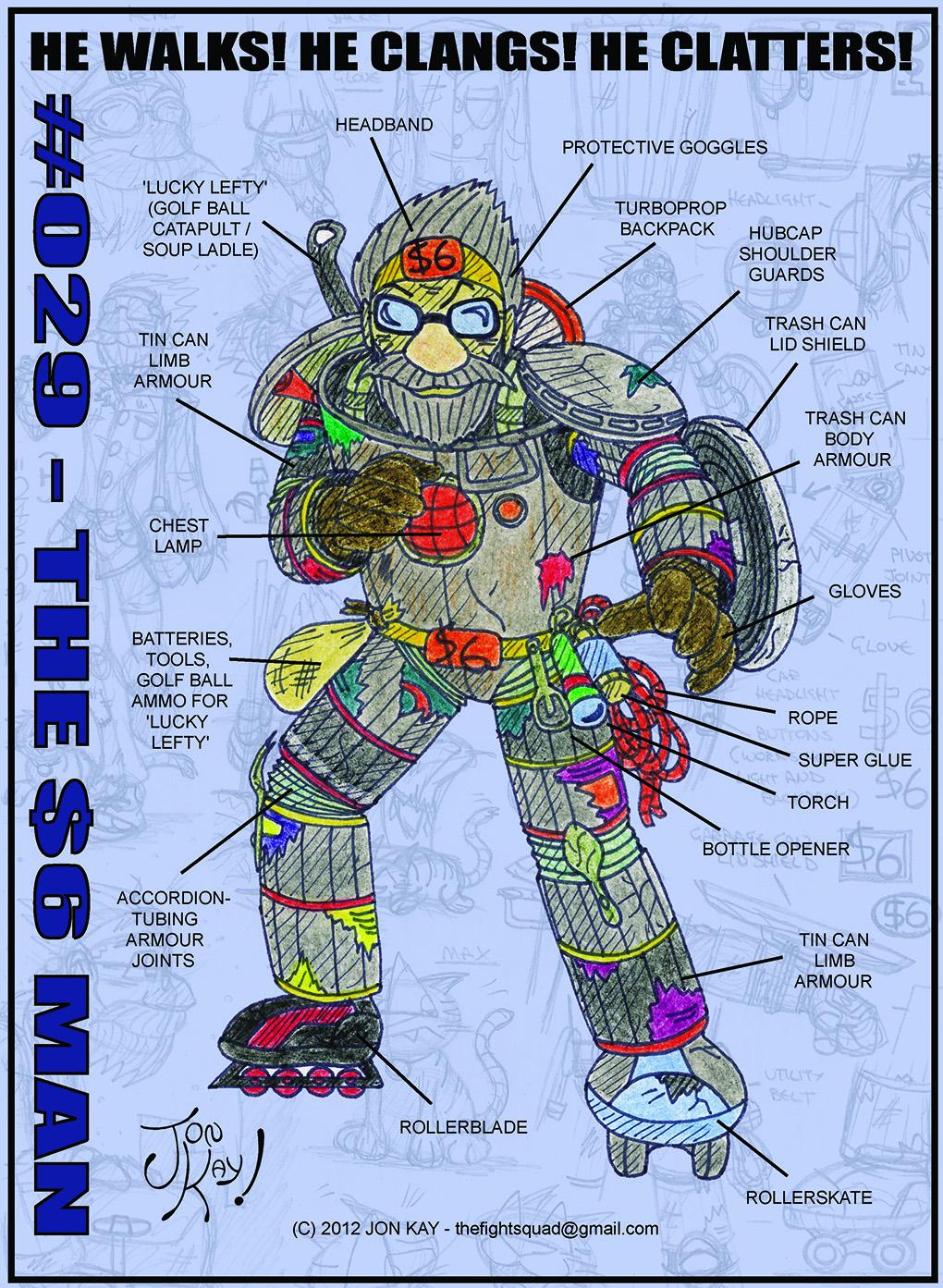 The $6 Man: technical blueprints