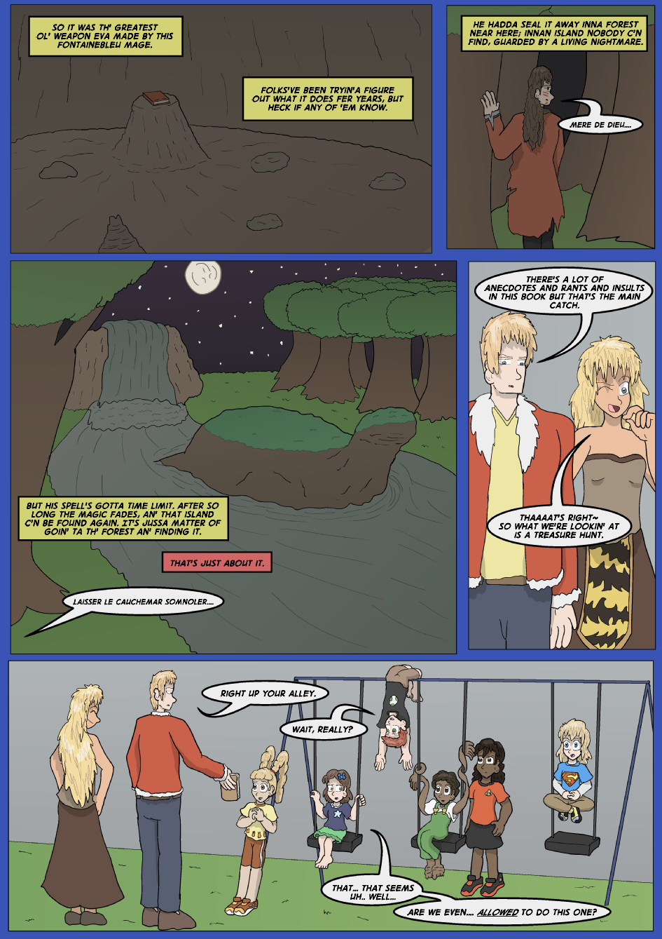 The Lost Spell of Baron Fontainebleu, Page 1
