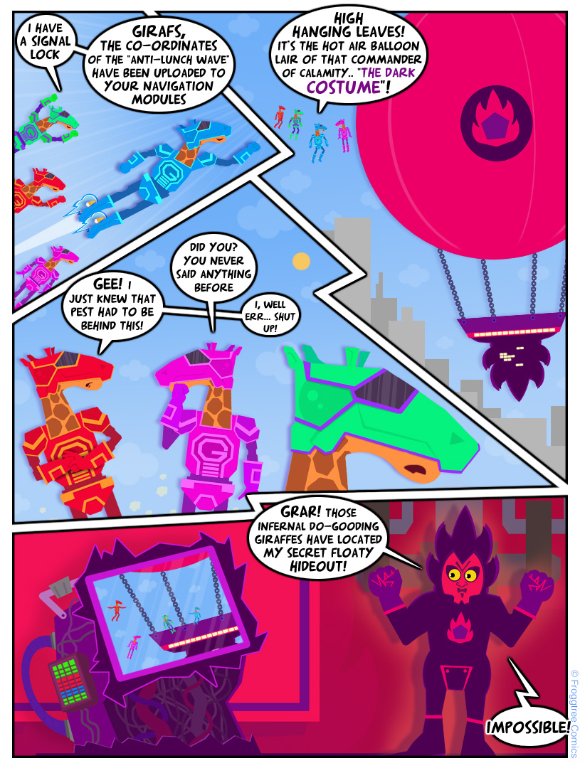 GIRAFS (3) - Enter The Dark Costume!
