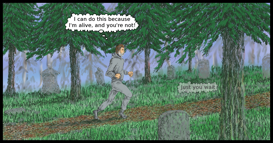 Thoughts While Running Through a Cemetery