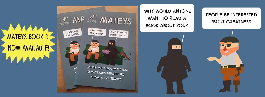 Mateys Book 1 Ad