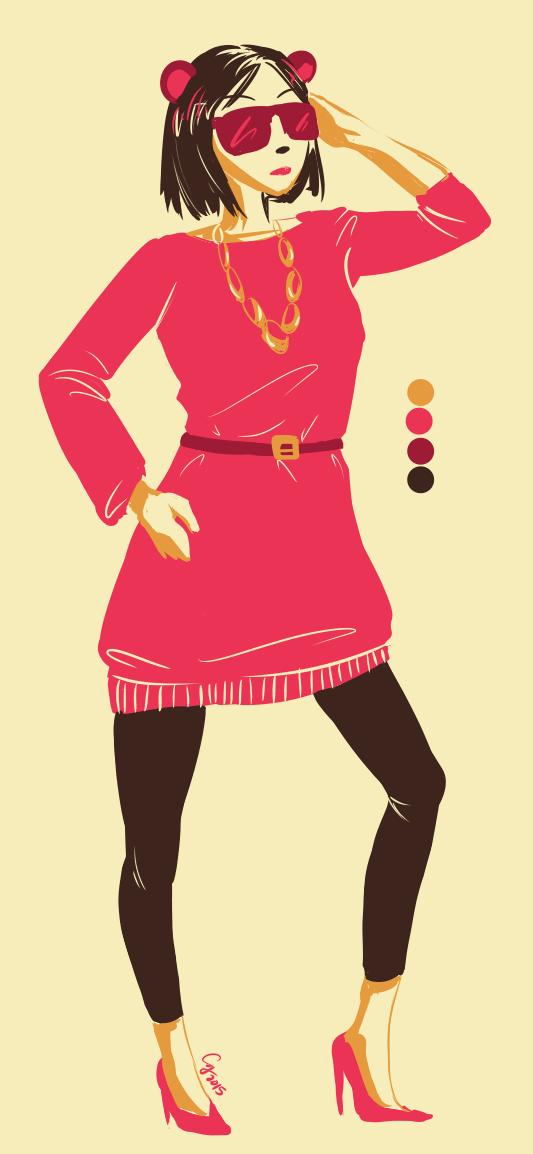 BCW: Limited Palette Doodle -- Lex