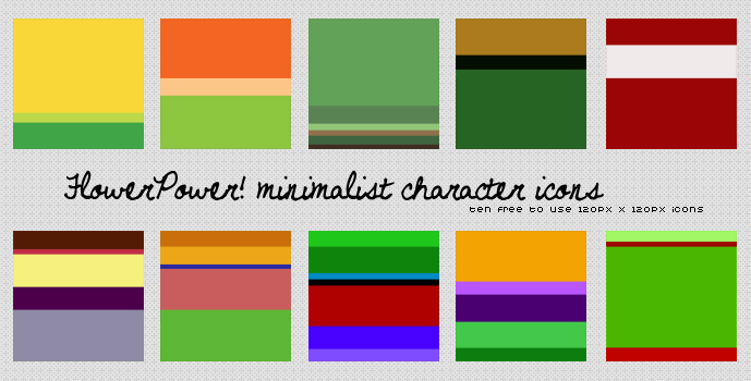 BCW: FlowerPower! Minimalist Icons