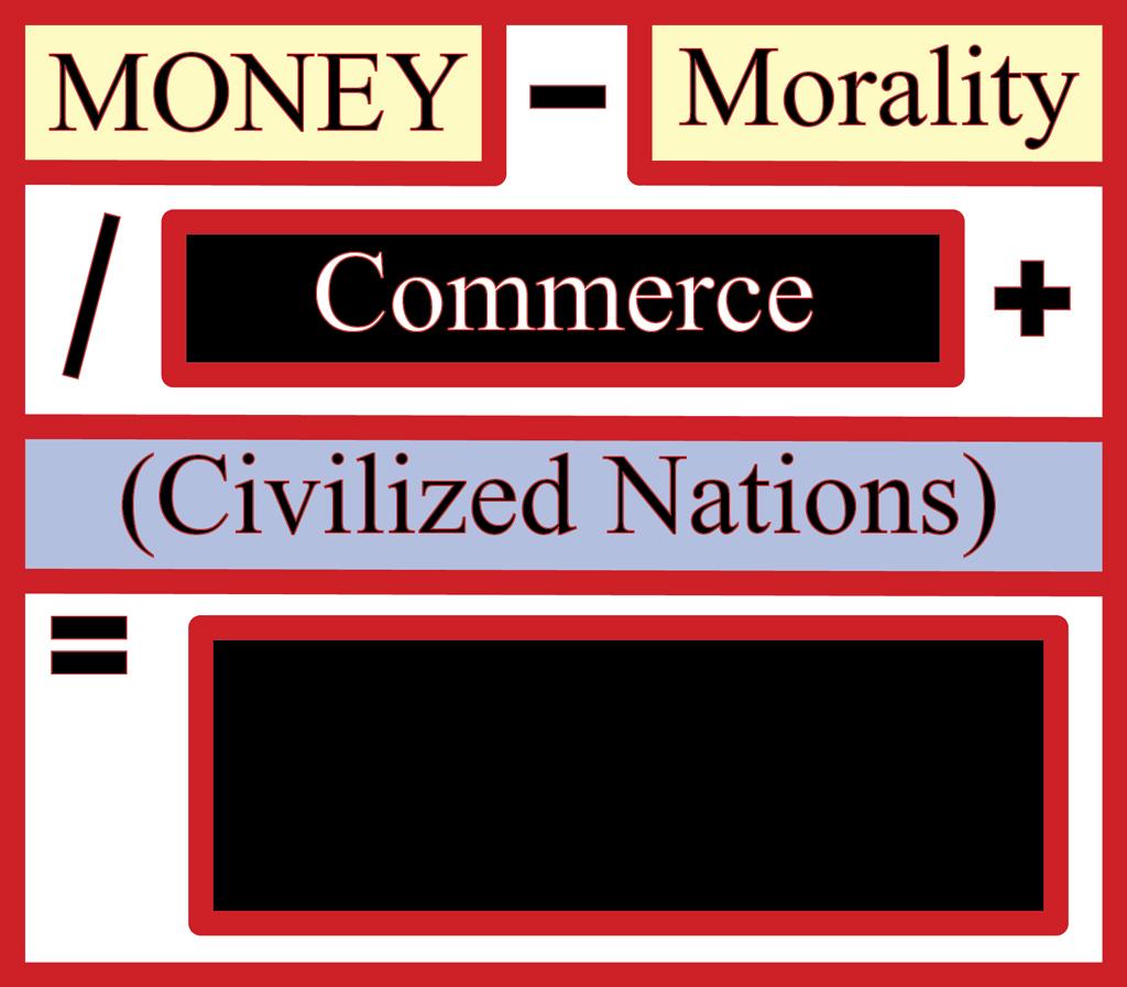 Money-Morality/Commerce+(Civilized Nations)=