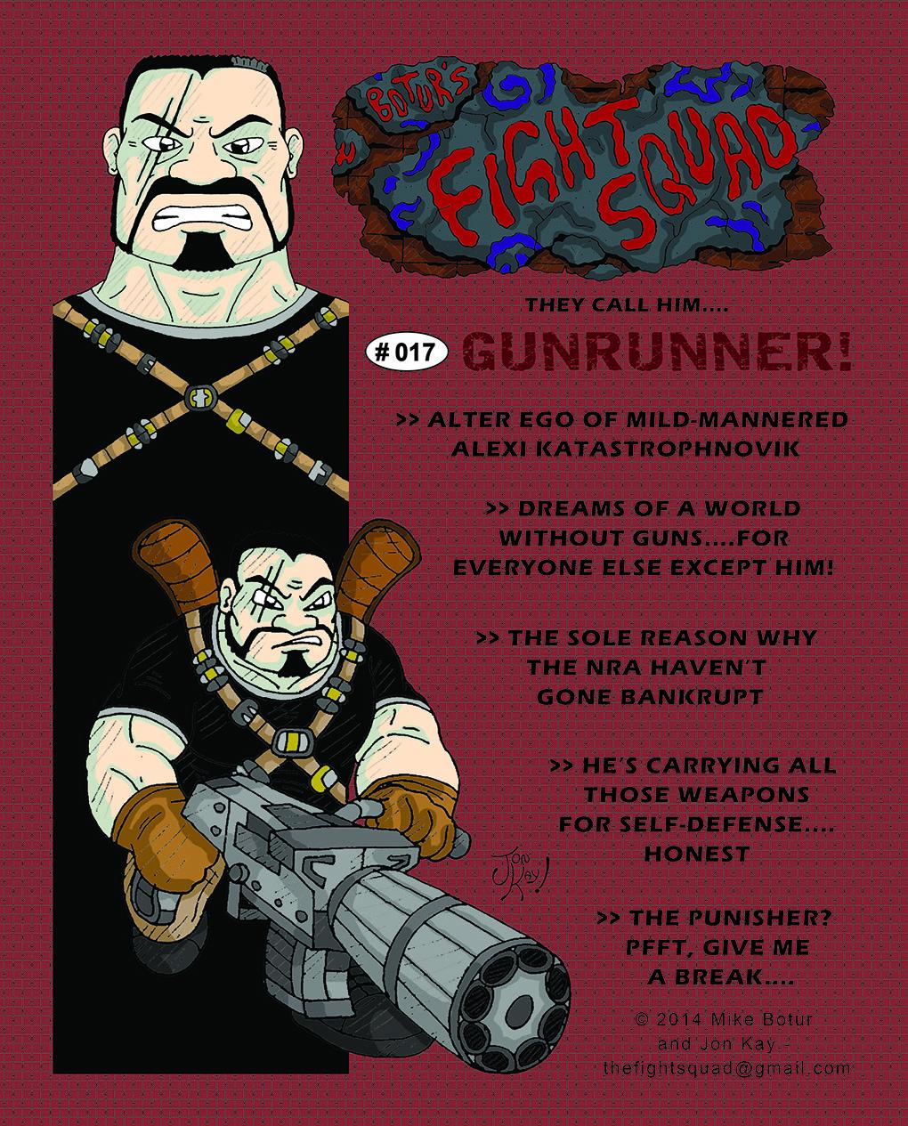 Character profile: Gunrunner