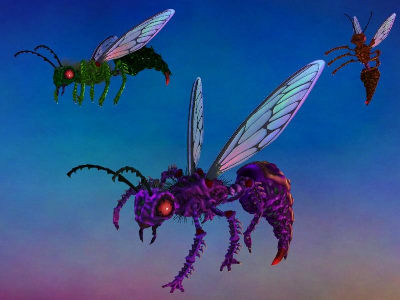 Giant Alien Wasps!