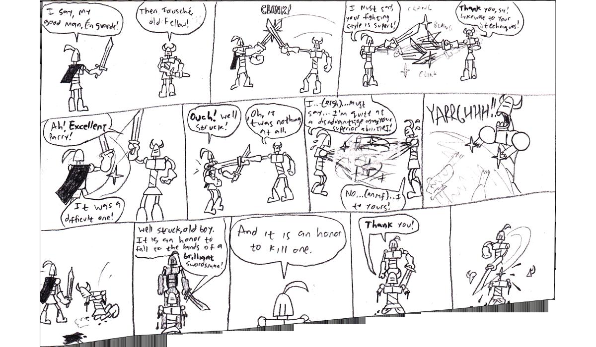Knight Guy origins: Knight Fight