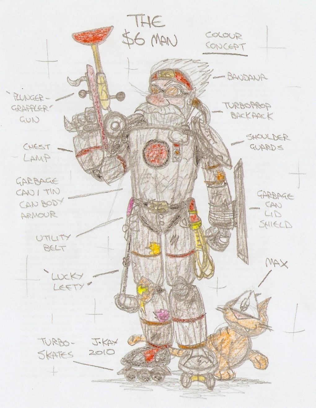 Concept art: The $6 Man 4