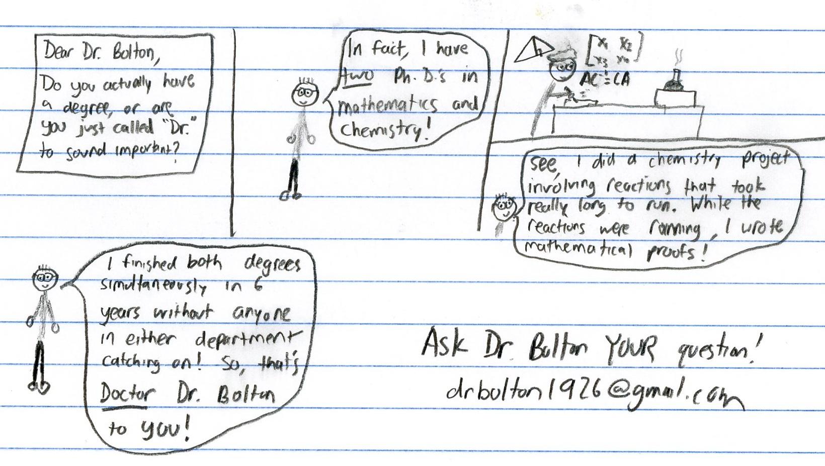 Dr. Bolton - Degree