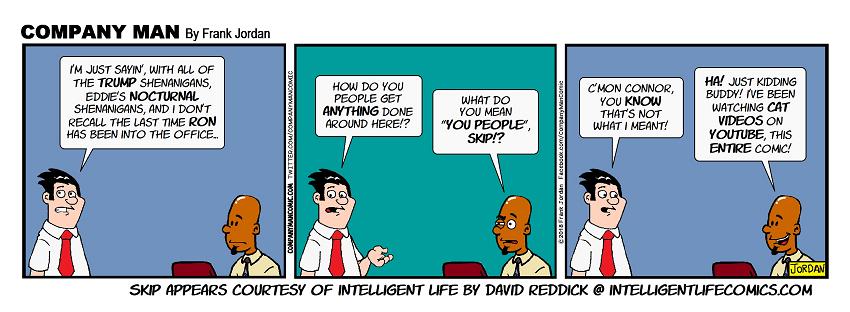 Skip from #IntelligentLifeComics explains it all! 7/30/18