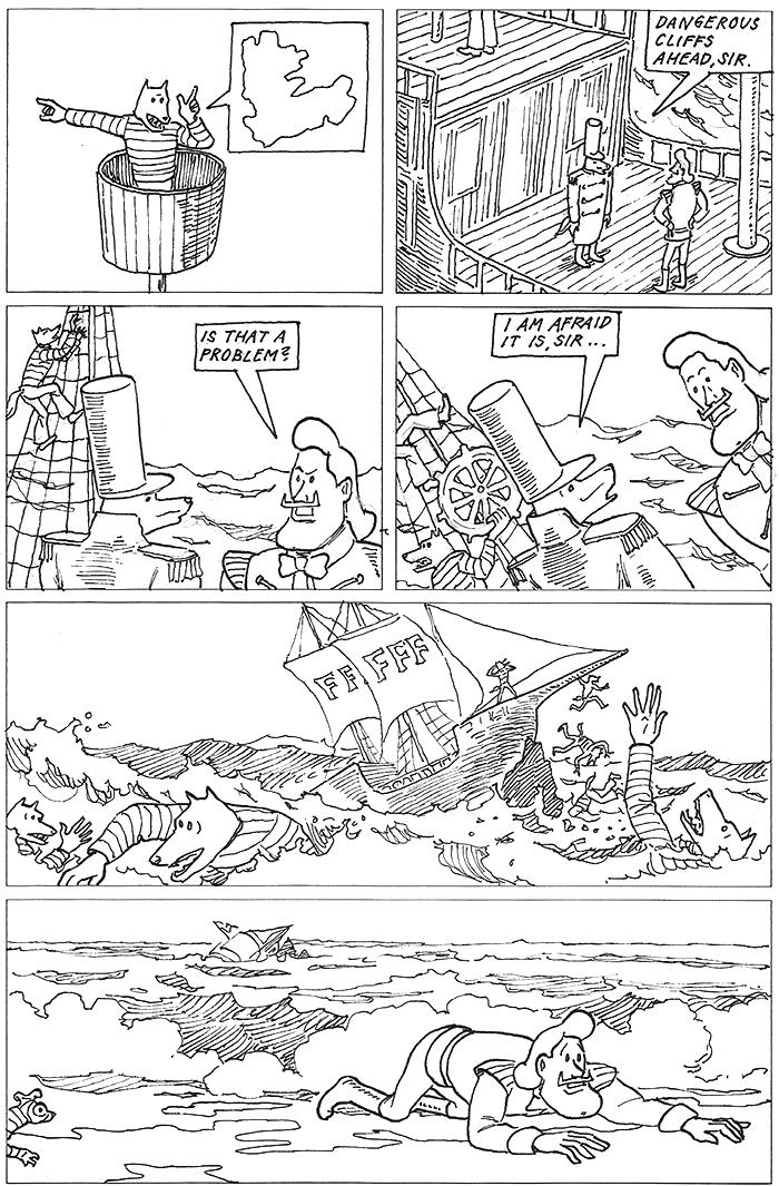 Dangerous cliffs ahead!