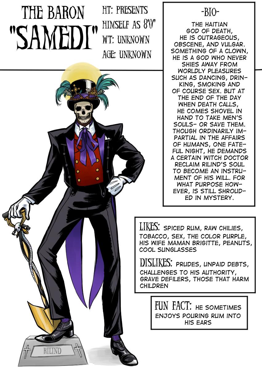 Character Bio: The Baron Samedi