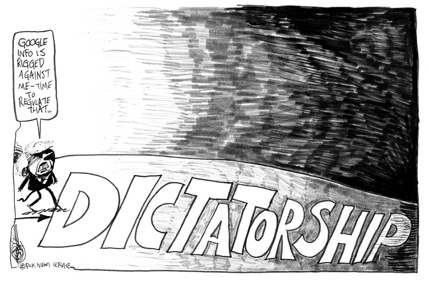 In-Universe Editorial Cartoon: Goose Step