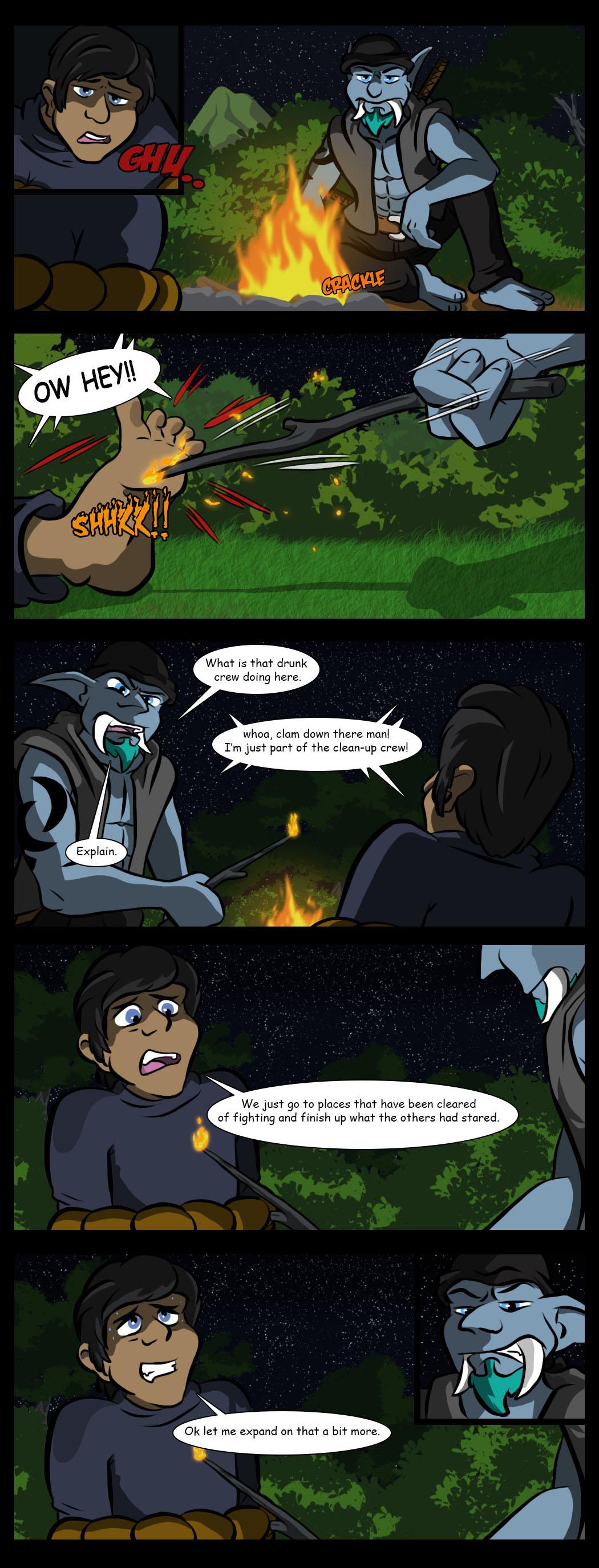 A unplesent camp fire chat
