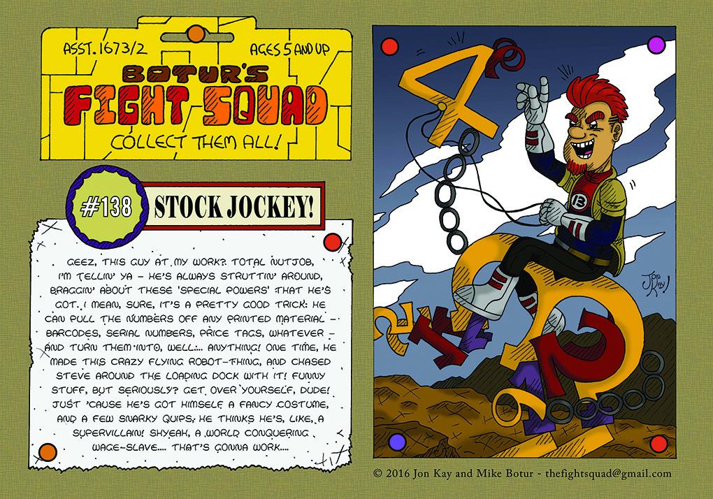 Character profile: Stock Jockey