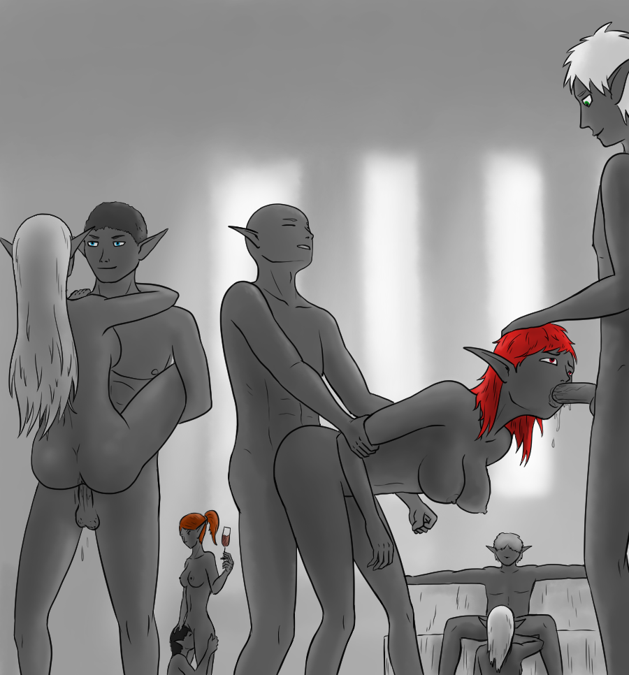 Dark elf orgy