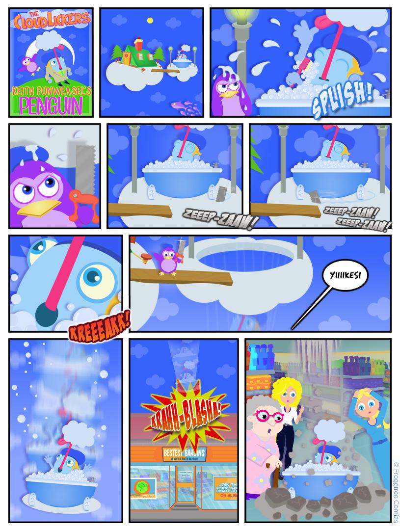Cloudlickers - Keith Funweasels Penguin - Splish Splash Bath