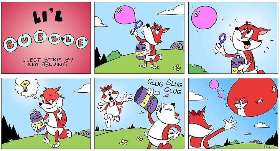 BABY BUBBLE'S BIG BUBBLE BLOAT: A BUBBLE FOX GUEST COMIC BY KIM BELDING