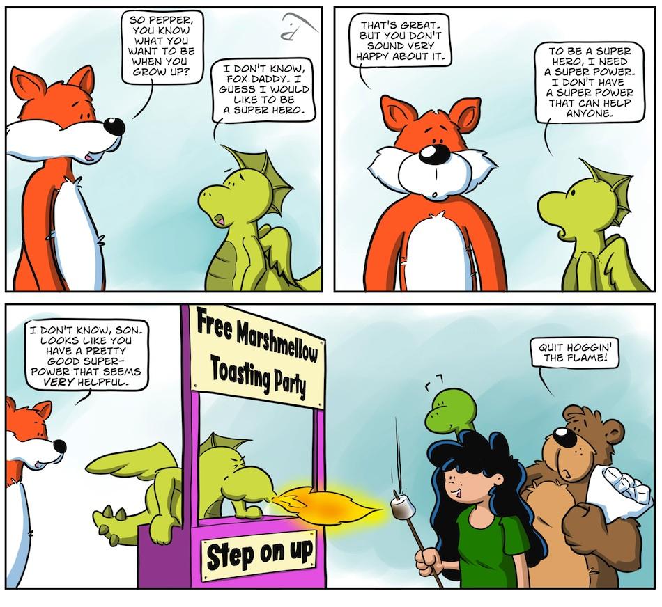 SUPER PEPPER: A BUBBLE FOX GUEST COMIC BY PJ DAY!!!