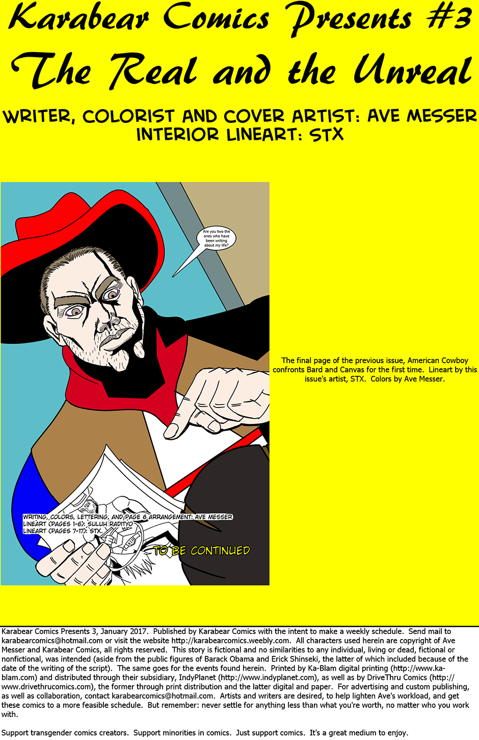 Issue 3: The Real and the Unreal - Inside cover