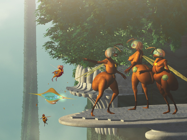 Bonus Art: Starwasp at the Hive