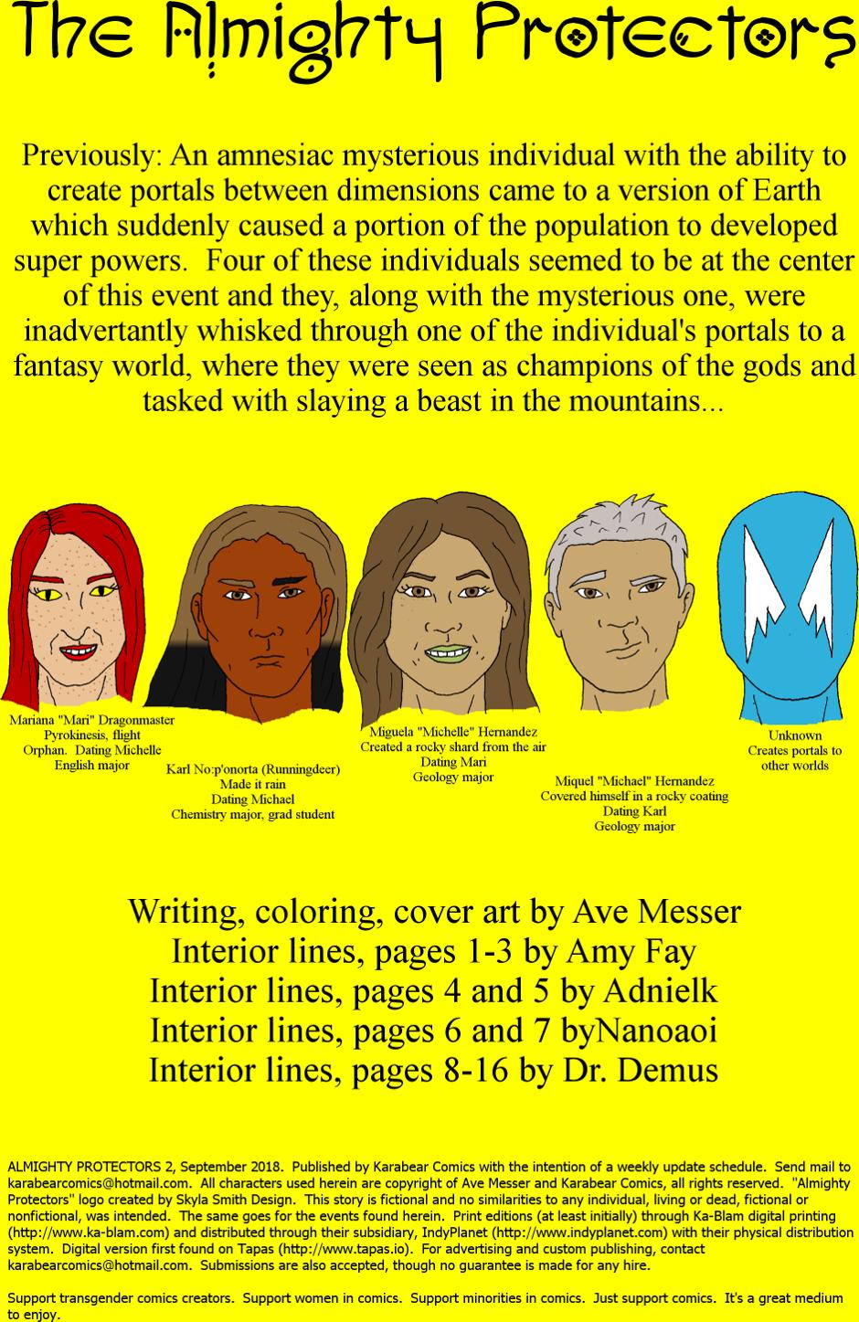 Issue 2: The Fair Folk - Inside cover