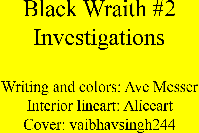 Issue 2: Investigations - Inside cover